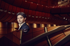 Stefano Greco and a Steinway piano